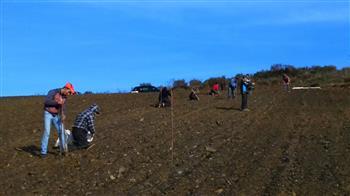 Início de plantação de novos 18 HA de vinha na Duorum